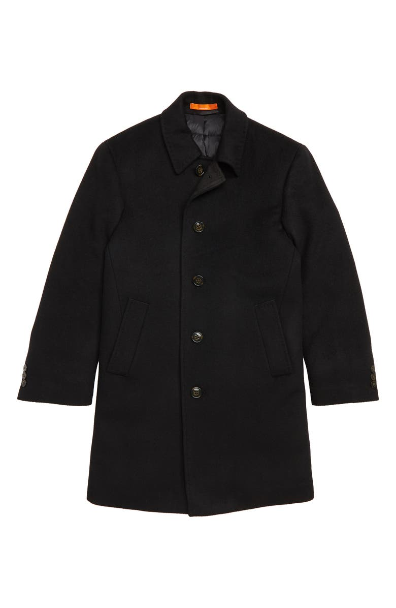 TALLIA Down Insulated Wool Blend Coat, Main, color, 001