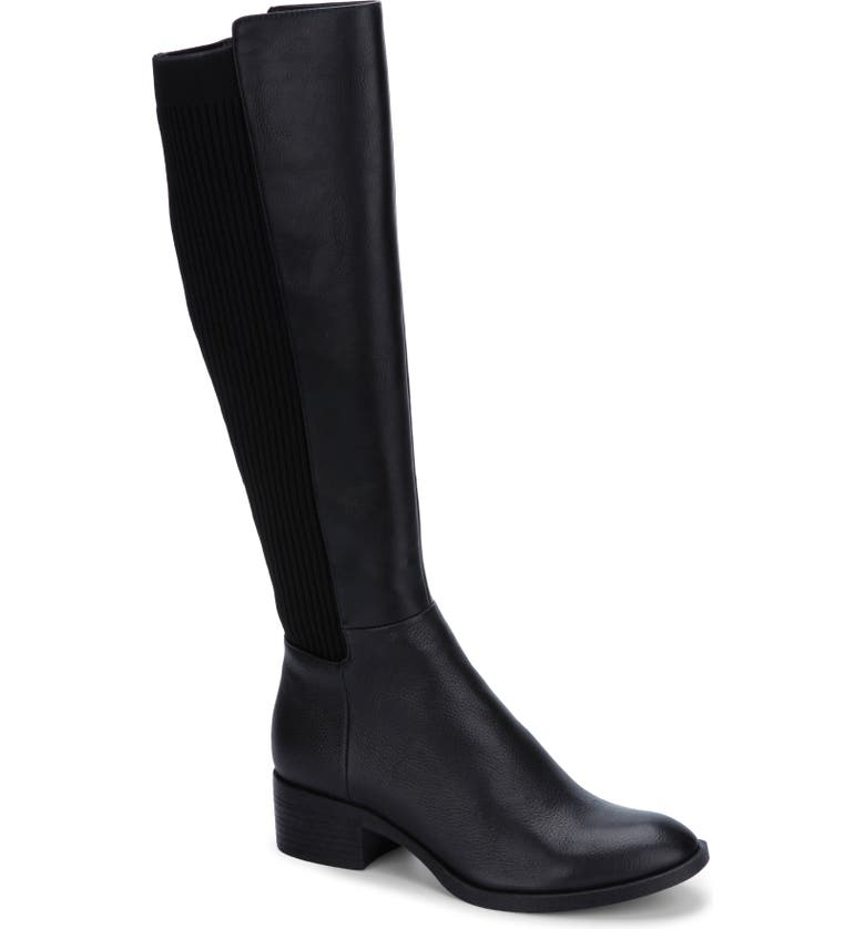 KENNETH COLE NEW YORK Levon Knee High Boot, Main, color, BLACK LEATHER