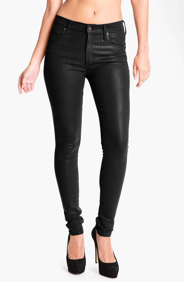 CITIZENS OF HUMANITY 'Rocket' Skinny Leatherette Jeans, Main, color, 004