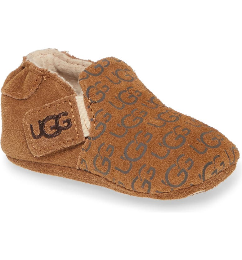 UGG <sup>®</sup> Roos Crib Shoe, Main, color, CHESTNUT