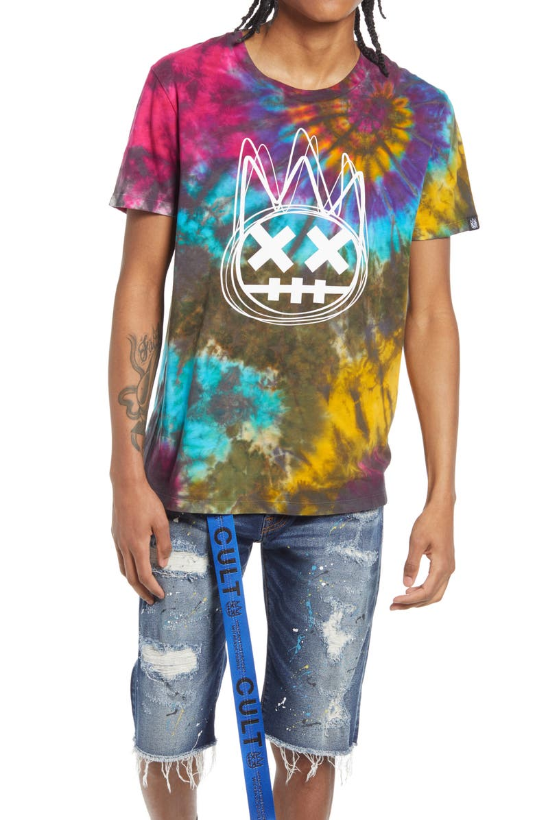 CULT OF INDIVIDUALITY Men's Tie Dye Graphic Tee, Main, color, TIE DYE RAINBOW