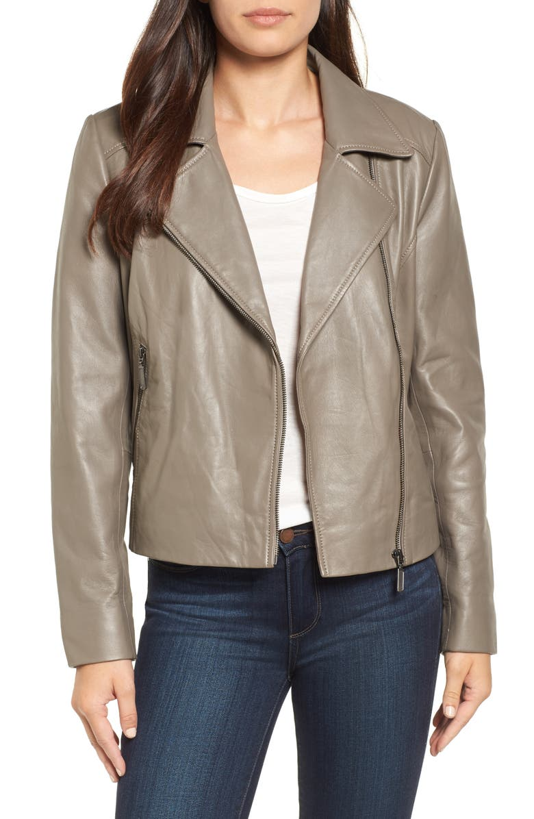 HALOGEN<SUP>®</SUP> Leather Moto Jacket, Main, color, 020