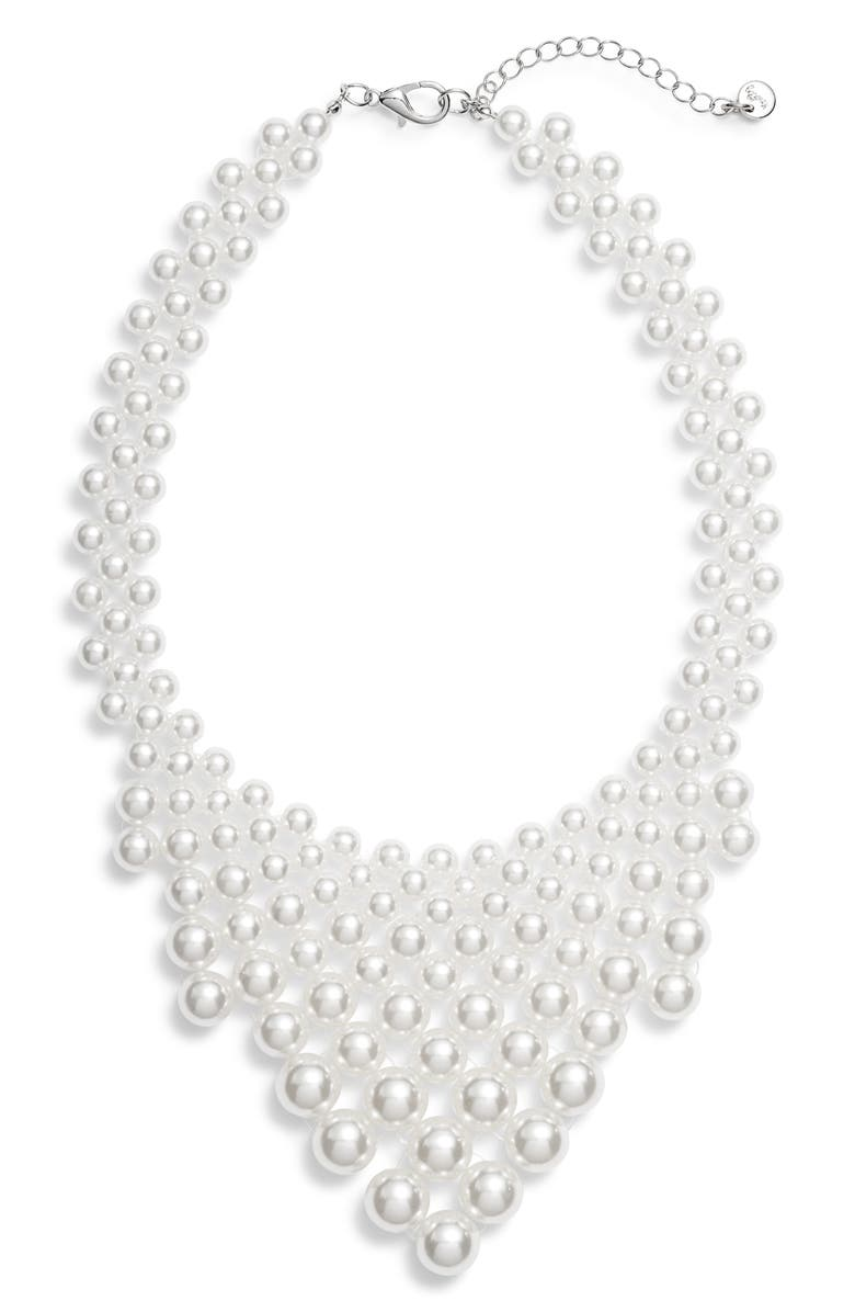 KNOTTY Imitation Pearl Necklace, Main, color, 900