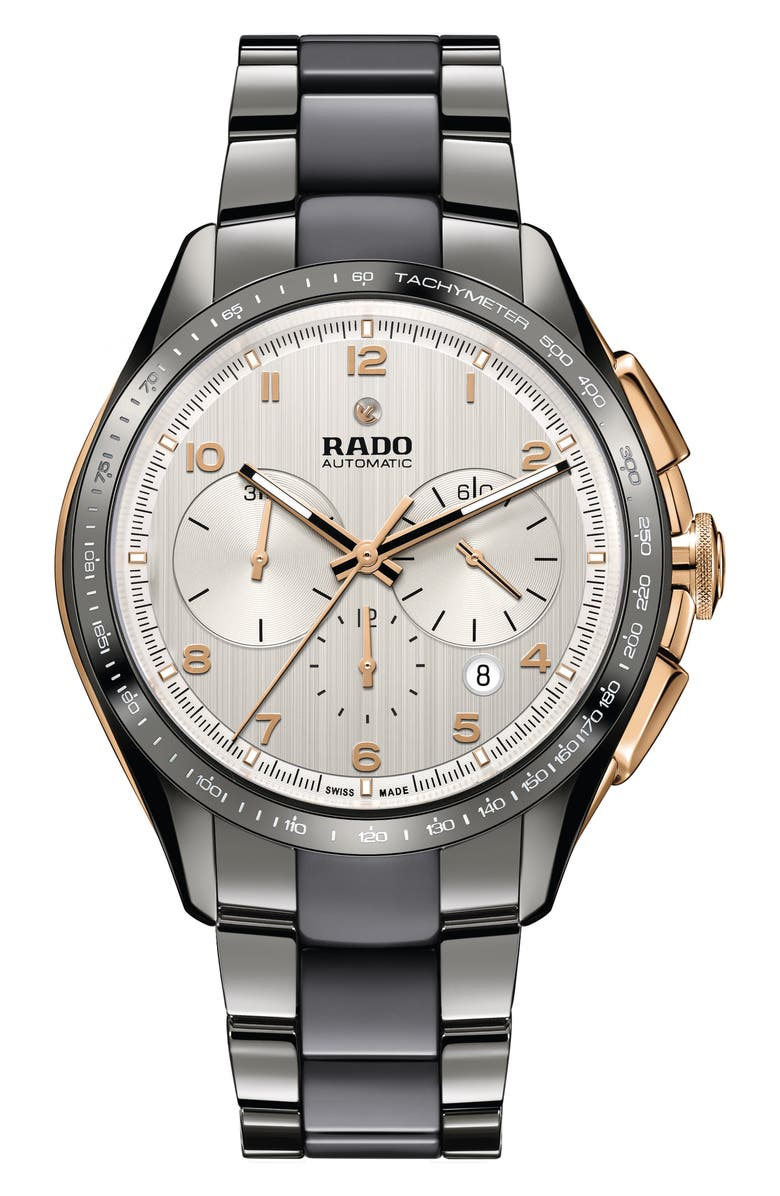 RADO HyperChrome Automatic Chronograph Bracelet Watch, 45mm, Main, color, 040