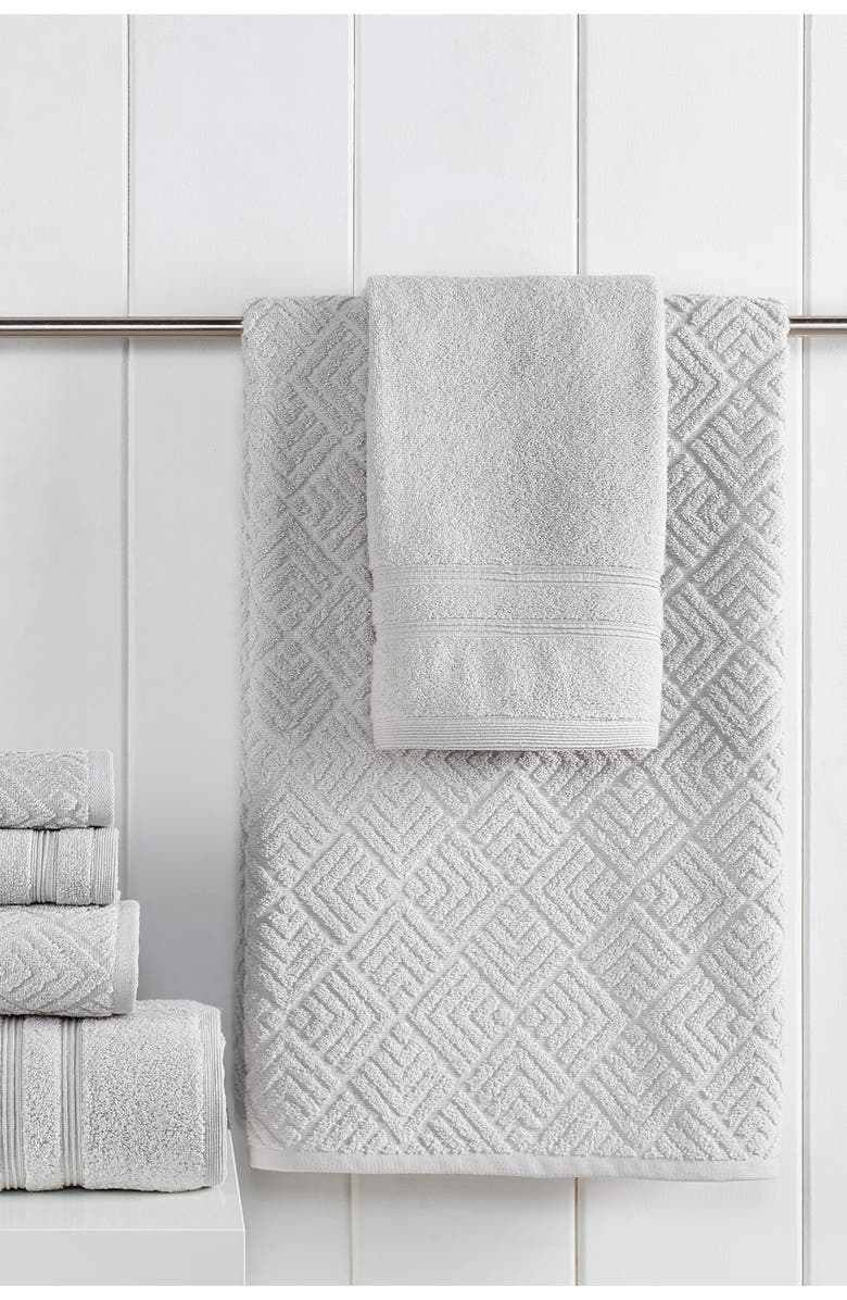 MODERN THREADS Jacquard Turkish Made 6-Piece Towel Set - Mineral, Main, color, MINERAL