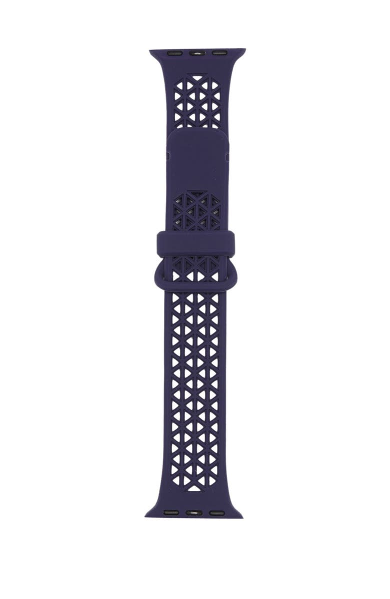 SARINA Women's Interchangeable Geometric Print Silicone Watch Strap, Main, color, NAVY