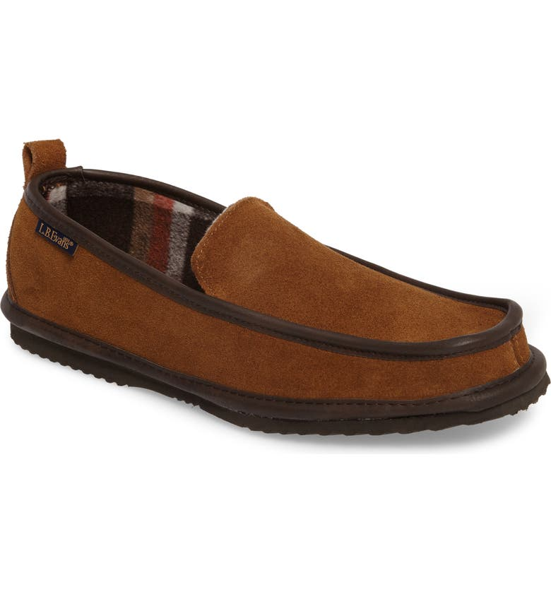 L.B. EVANS Vernan Slipper, Main, color, CHESTNUT SUEDE