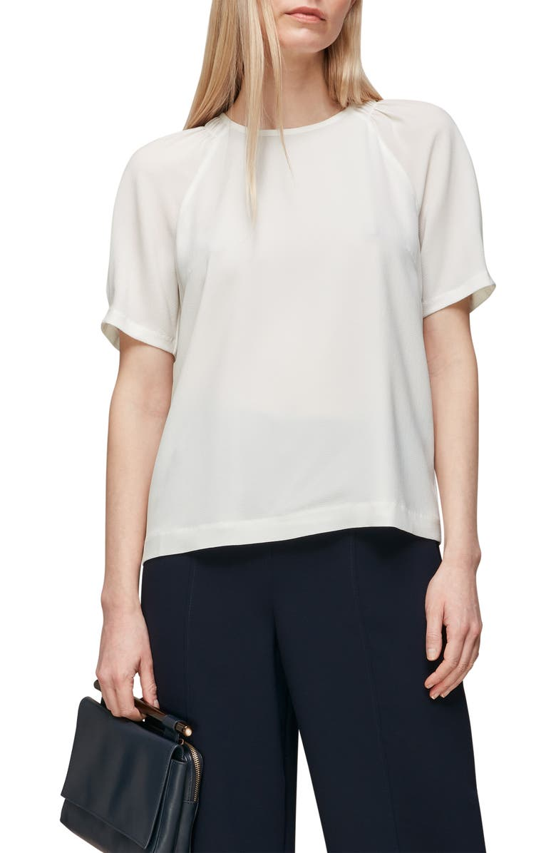 WHISTLES Smocked Shoulder Shell Top, Main, color, 900