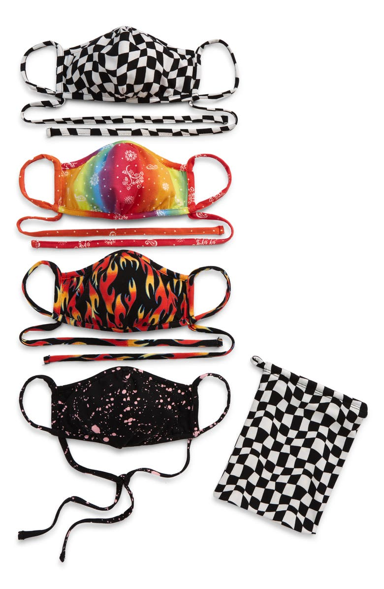 BP. Be Proud by BP. Gender Inclusive Assorted 4-Pack Adult Face Masks, Main, color, BLACK COMBO