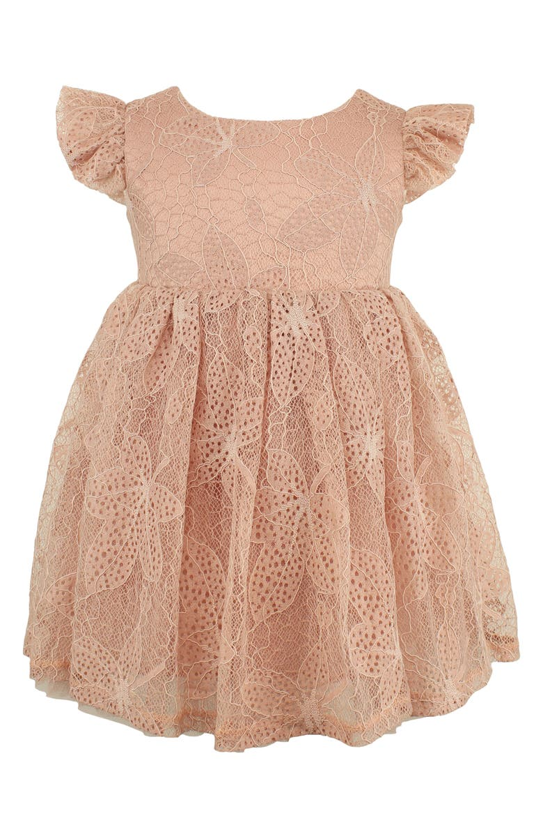 POPATU Lace Overlay Dress, Main, color, DUSTY PINK