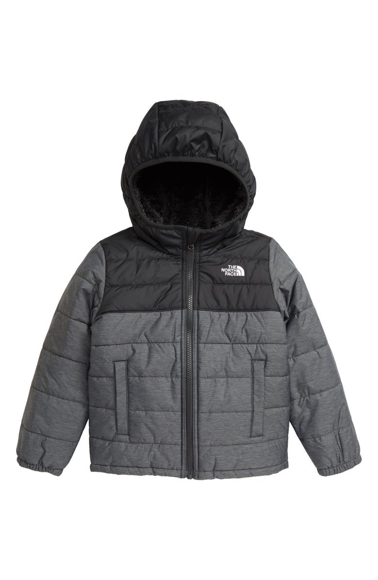 THE NORTH FACE Kids' Mount Chimborazo Water Resistant Reversible Jacket, Main, color, TNF GREY HEATHER/ WHITE