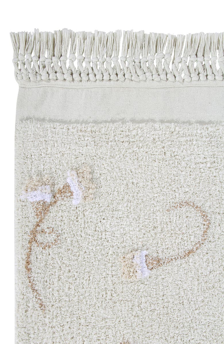 LORENA CANALS English Garden Washable Recycled Cotton Blend Rug, Main, color, IVORY