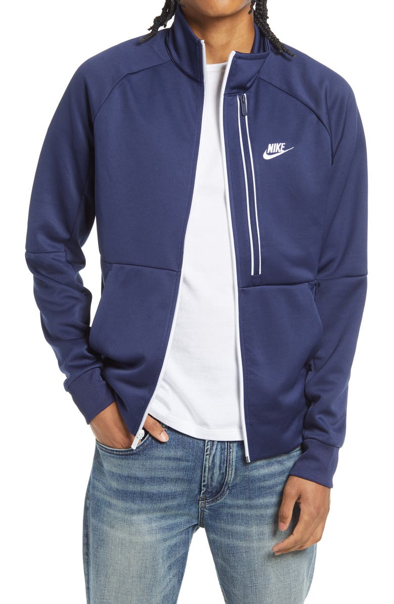 NIKE Sportswear N98 Tribute Track Jacket, Main, color, MIDNIGHT NAVY/ WHITE