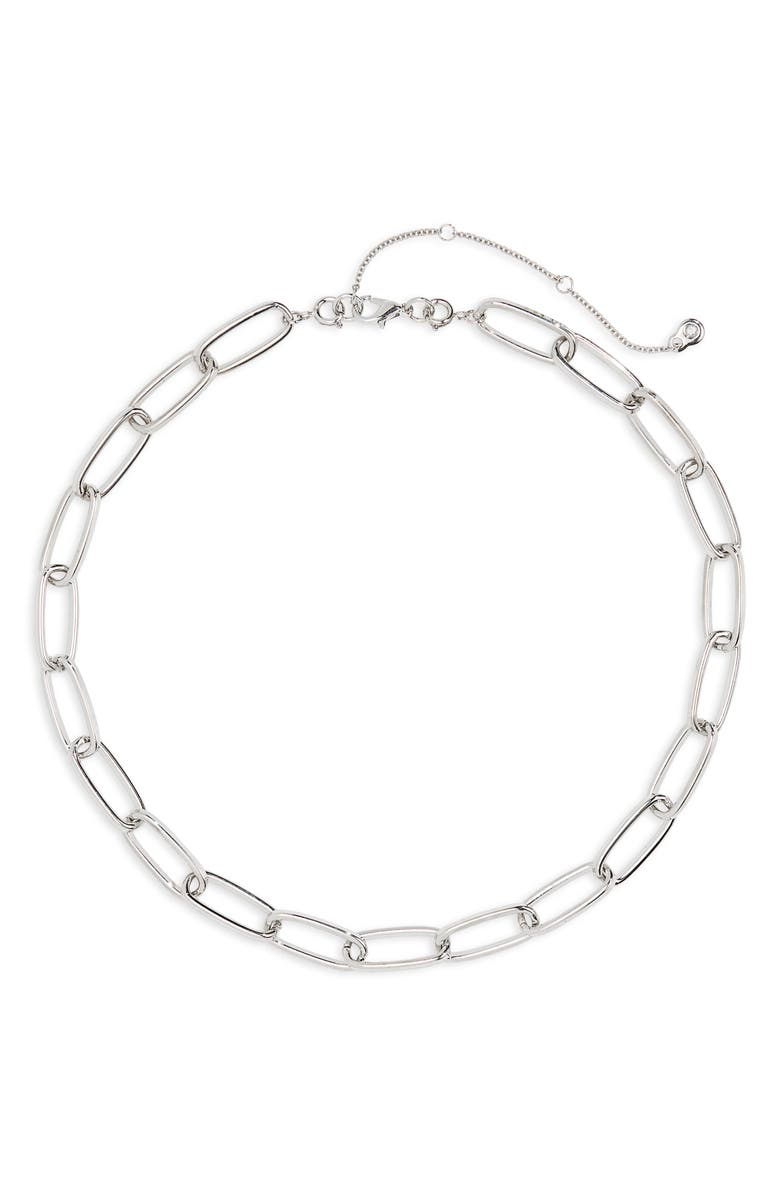 BP. Chain Link Necklace, Main, color, SILVER