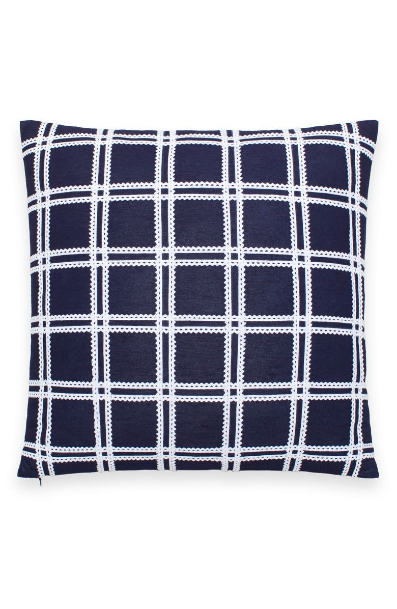 KATE SPADE NEW YORK rickrack grid accent pillow, Main, color, 400