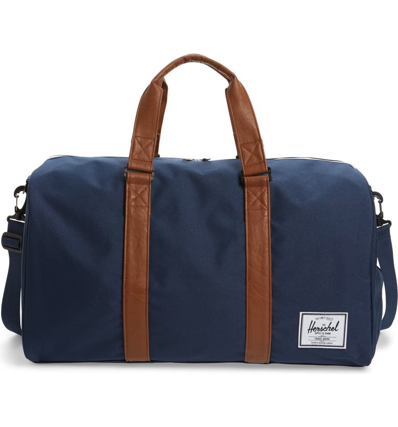 HERSCHEL SUPPLY CO. Duffle Bag, Main, color, NAVY/ TAN
