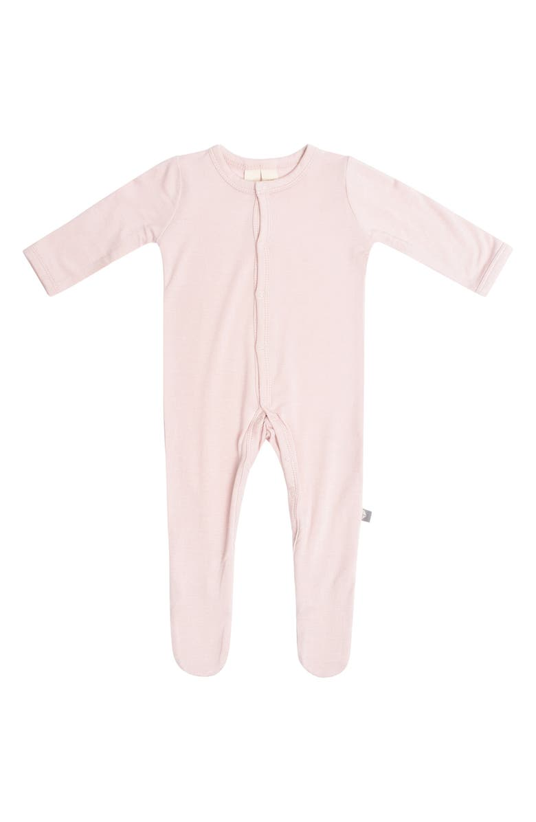 KYTE BABY Snap Footie, Main, color, BLUSH