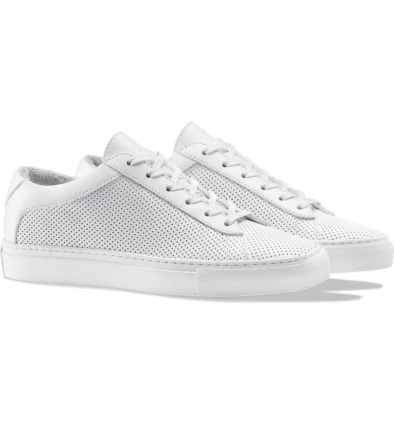 KOIO Capri Sneaker, Main, color, WHITE PERFORATED LEATHER