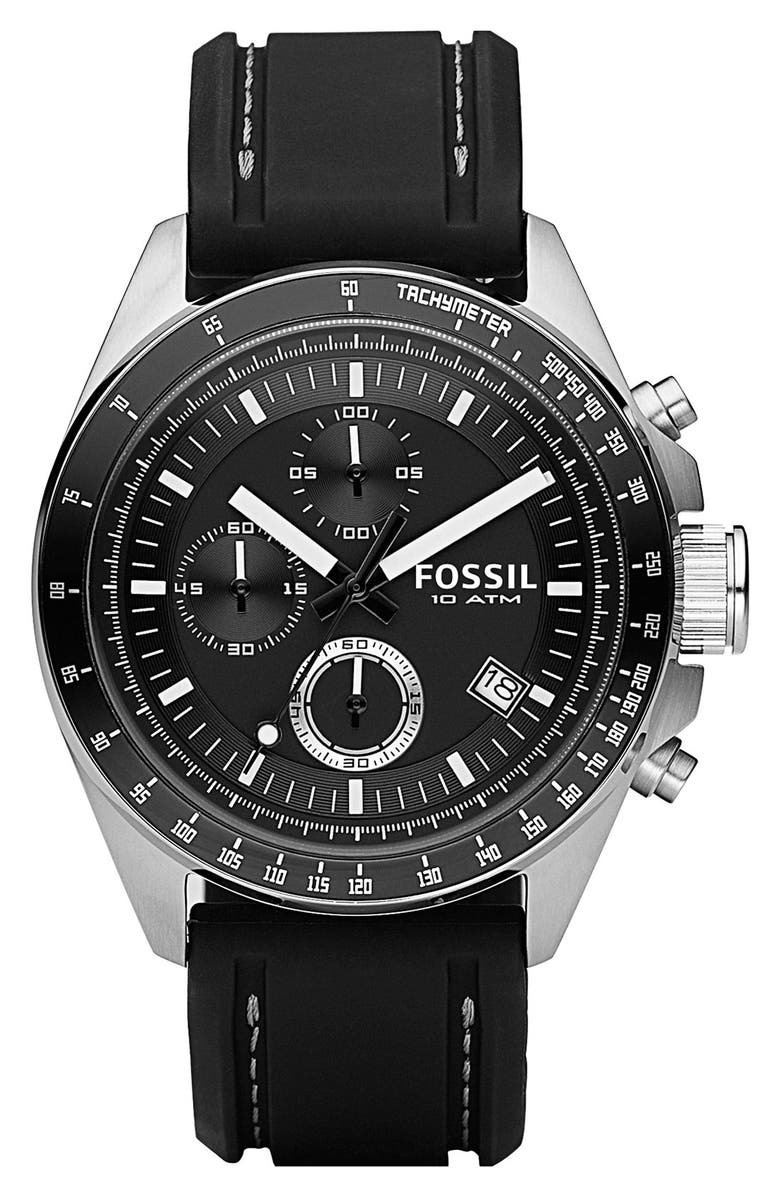 FOSSIL Chronograph Tachymeter Watch, 44mm, Main, color, 001