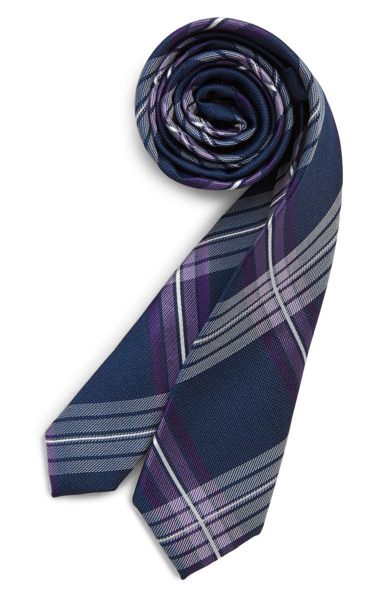 NORDSTROM Frank Plaid Silk Tie, Main, color, 500