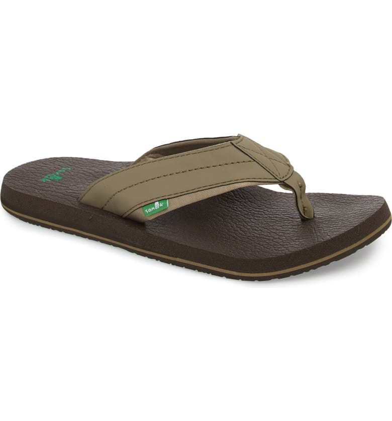 SANUK 'Beer Cozy 2' Flip Flop, Main, color, BRINDLE