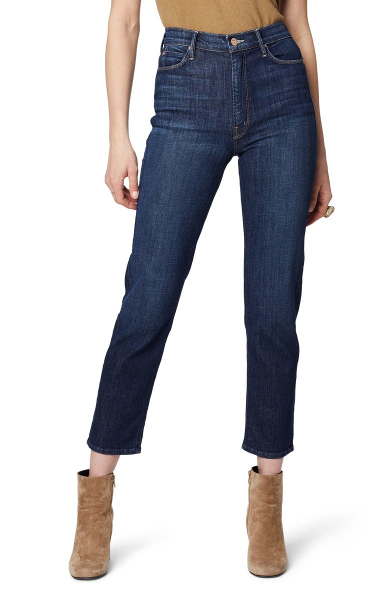MOTHER The Dazzler High Waist Ankle Straight Leg Jeans, Main, color, 410