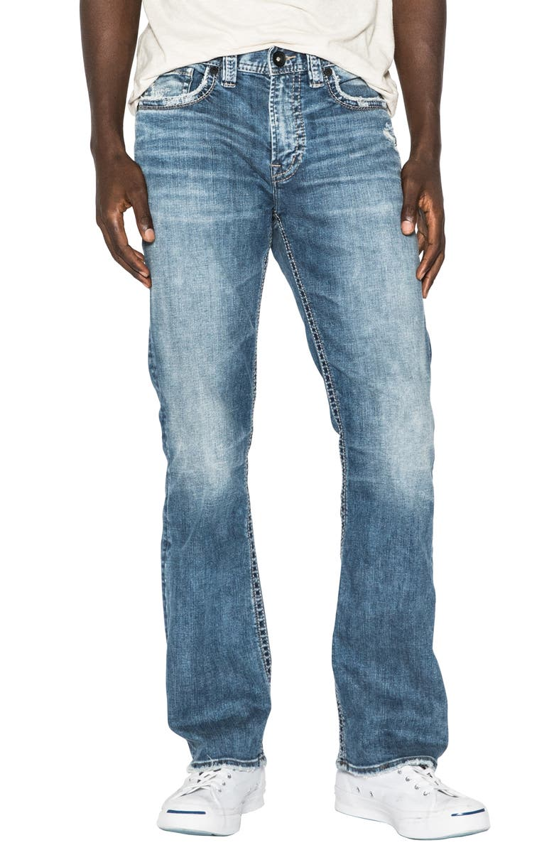 SILVER JEANS CO. Craig Relaxed Fit Bootcut Jeans, Main, color, INDIGO