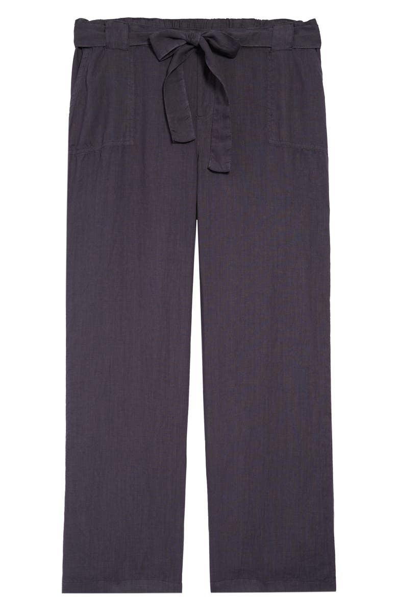 CASLON<SUP>®</SUP> New Belted Linen Pants, Main, color, GREY EBONY