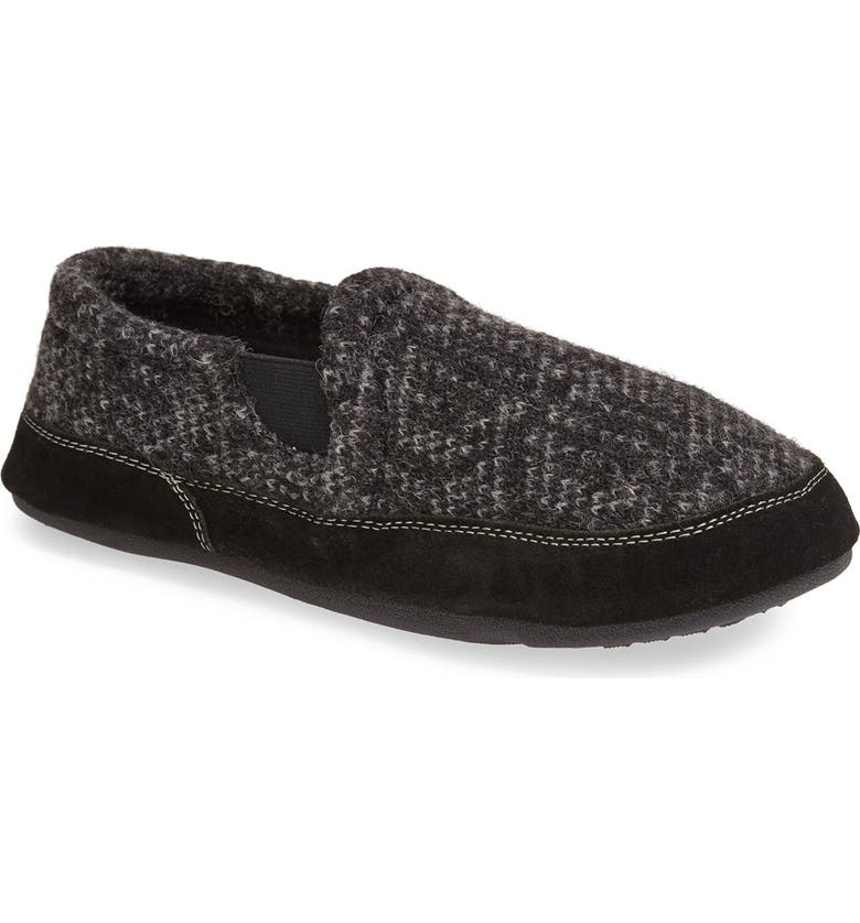 ACORN 'Fave' Slipper, Main, color, CHARCOAL TWEED