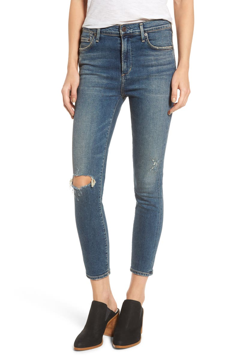 CITIZENS OF HUMANITY Rocket Crop Skinny Jeans, Main, color, 405