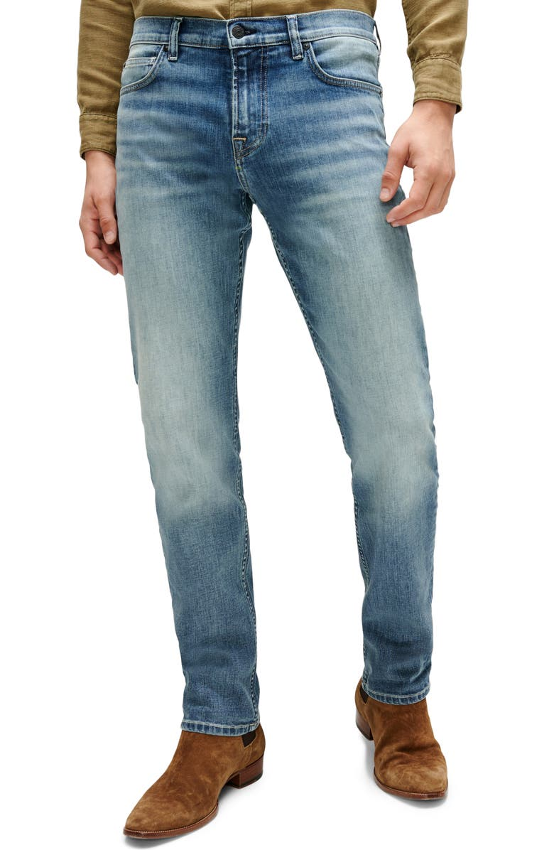 7 FOR ALL MANKIND <sup>®</sup> Slimmy Straight Leg Jeans, Main, color, NEW YORK MEDIUM
