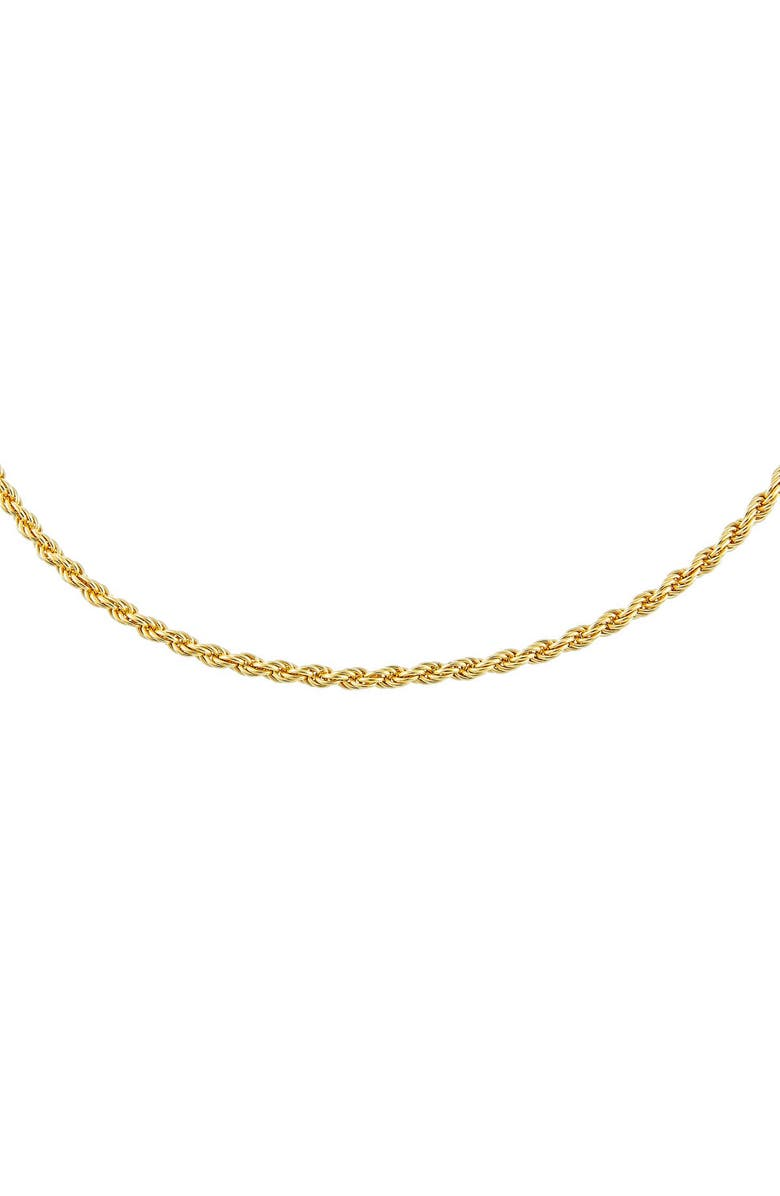 ADINA'S JEWELS Rope Chain Necklace, Main, color, Gold