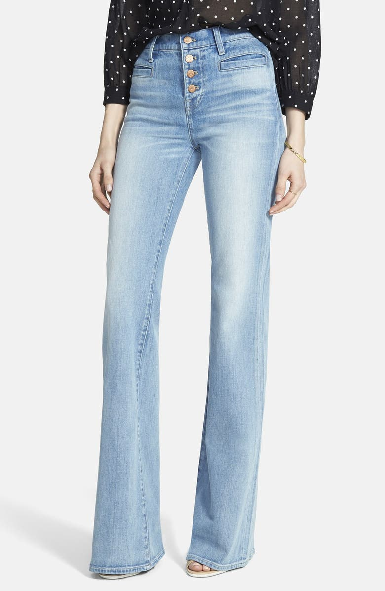 MADEWELL 'Flea Market Flare' Button Front Jeans, Main, color, JOAN
