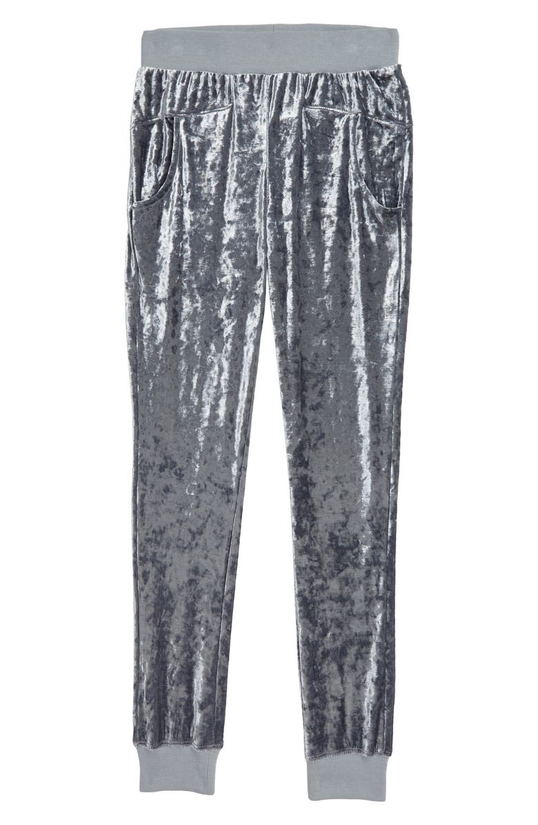 HABITUAL GIRL Dylan Crushed Velour Jogger Pants, Main, color, 050