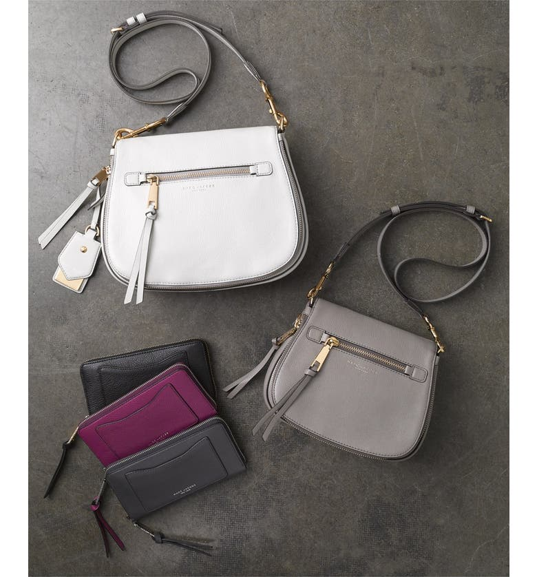 MARC JACOBS Small Recruit Nomad Pebbled Leather Crossbody Bag, Main, color, 114