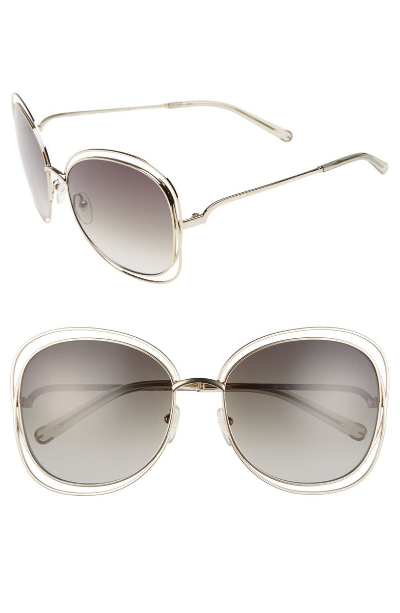CHLOÉ Carlina 60mm Gradient Les Sunglasses, Main, color, 710