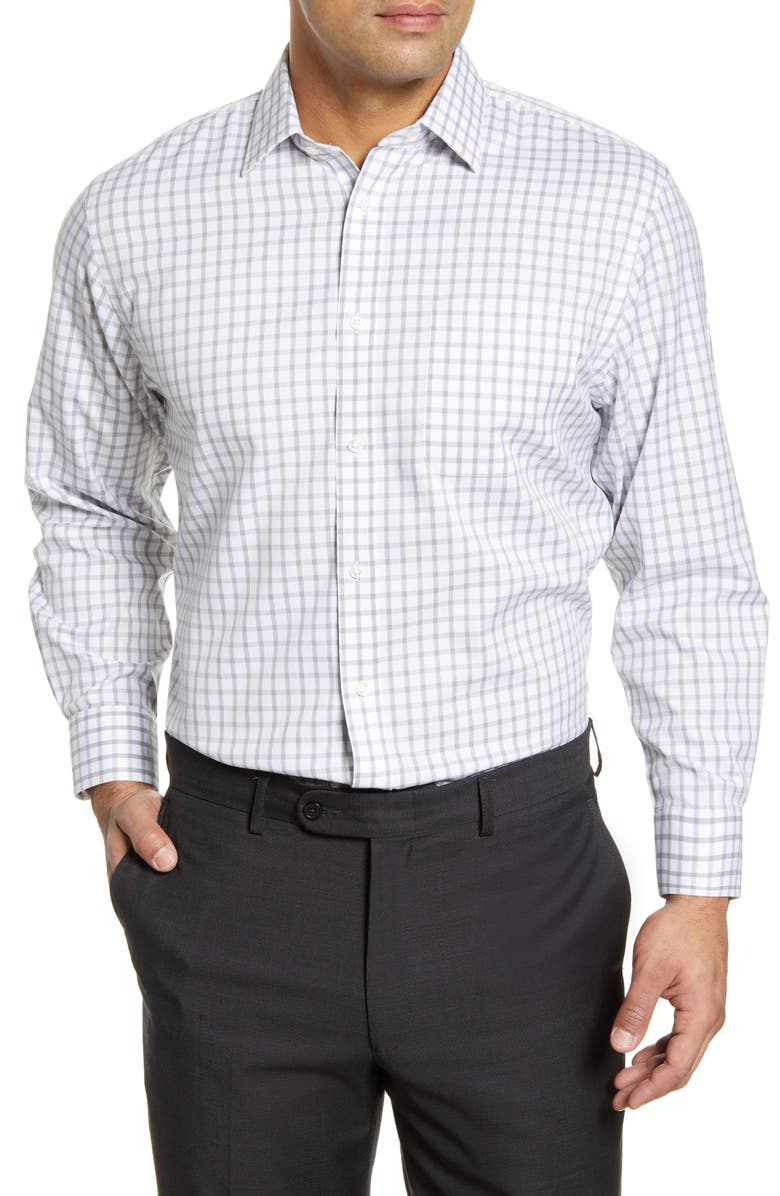 NORDSTROM MEN'S SHOP Smartcare<sup>™</sup> Traditional Fit Check Dress Shirt, Main, color, 050