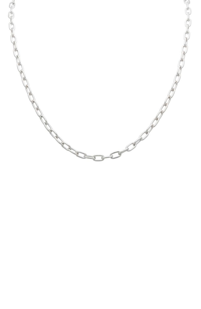 STEPHANIE WINDSOR 14K Gold Chain Necklace, Main, color, WHITE GOLD