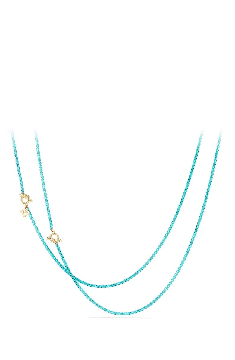 DAVID YURMAN DY Bel Aire Chain Necklace with 14K Gold Accents, Main, color, TURQUOISE