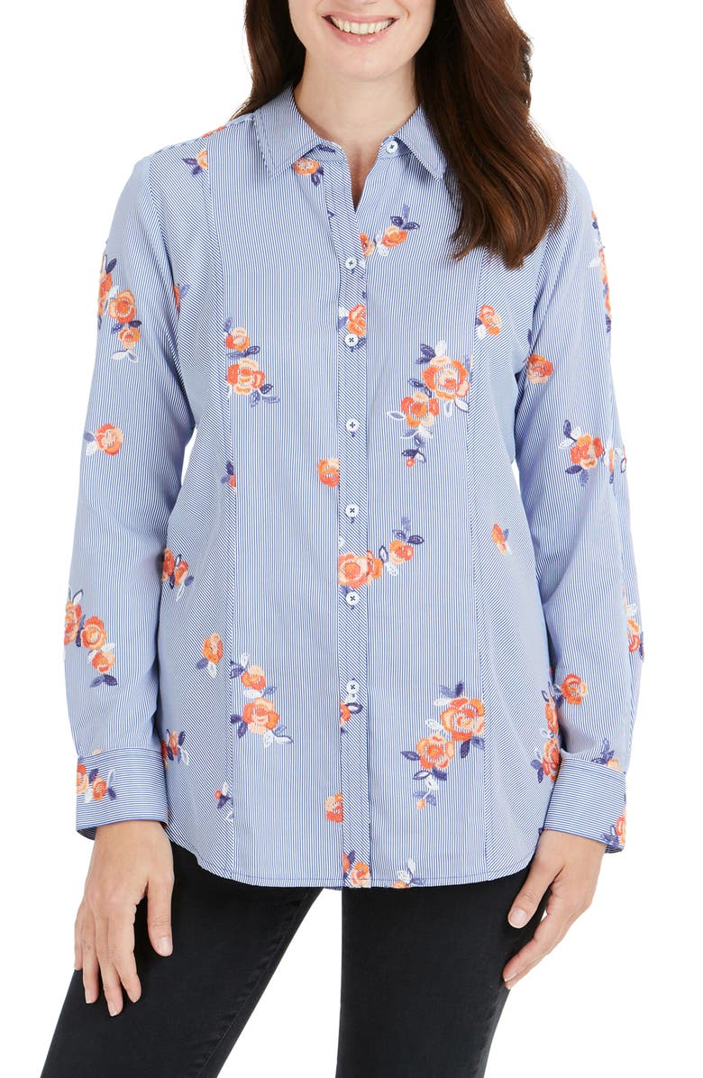 FOXCROFT Riley Embroidered Shirt, Main, color, 429
