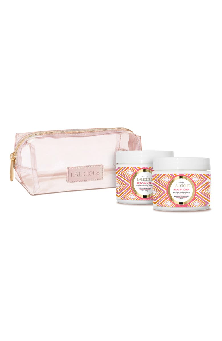 LALICIOUS Peachy Keen Travel Size Set, Main, color, 000