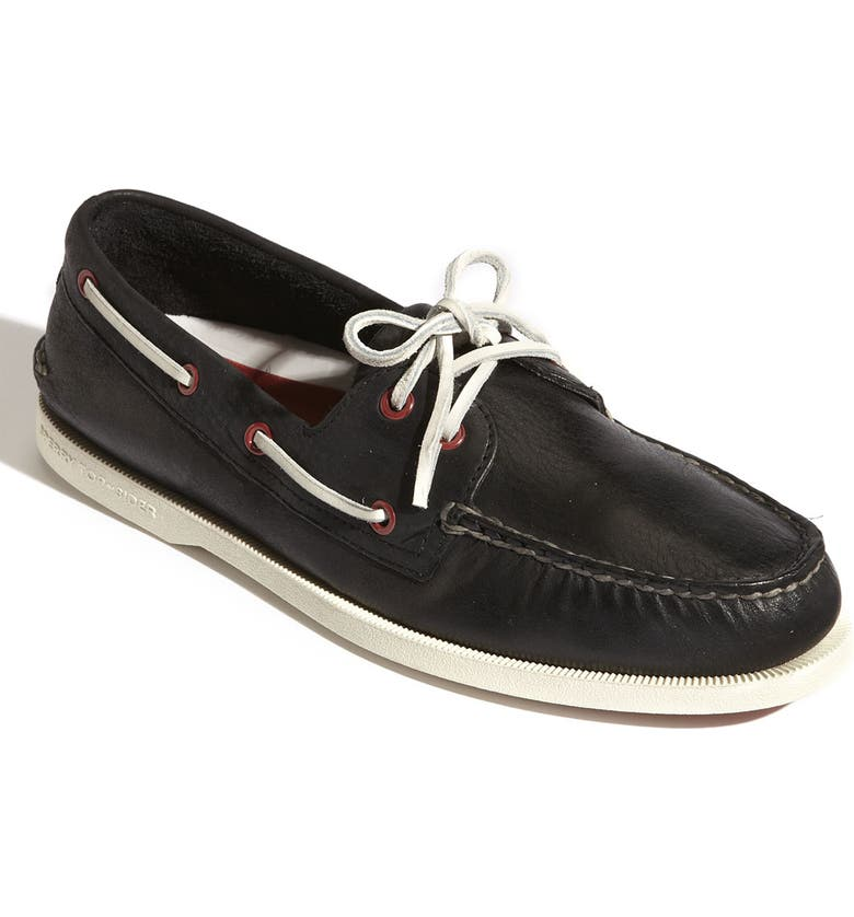 SPERRY Top-Sider<sup>®</sup> 'Authentic Original 2-Eye' Burnished Boat Shoe, Main, color, 001