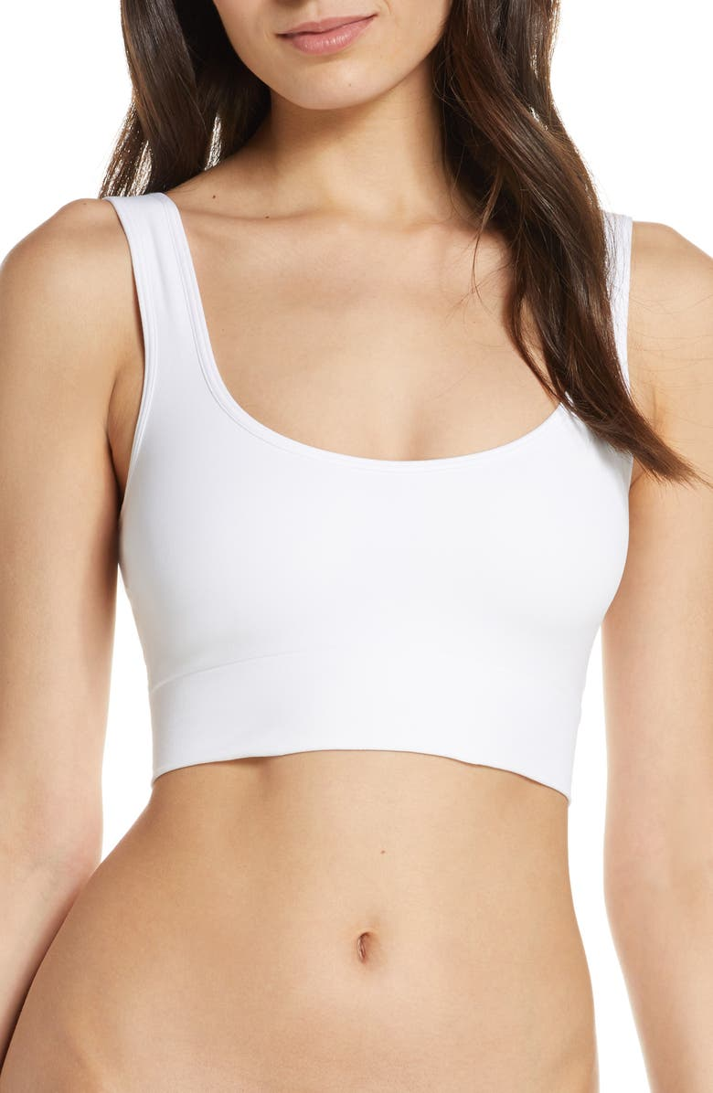 HALOGEN<SUP>®</SUP> Seamless Tank Bralette, Main, color, WHITE