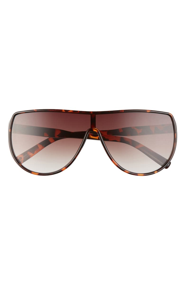 BP. 66mm Shield Sunglasses, Main, color, BROWN TORT