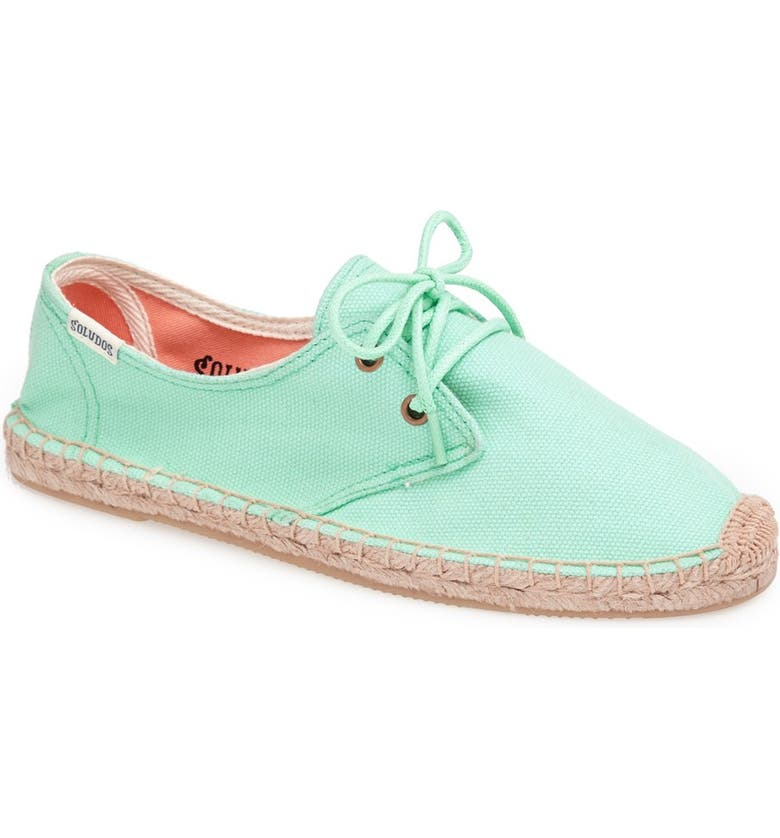 SOLUDOS 'Derby' Espadrille Sneaker, Main, color, 401