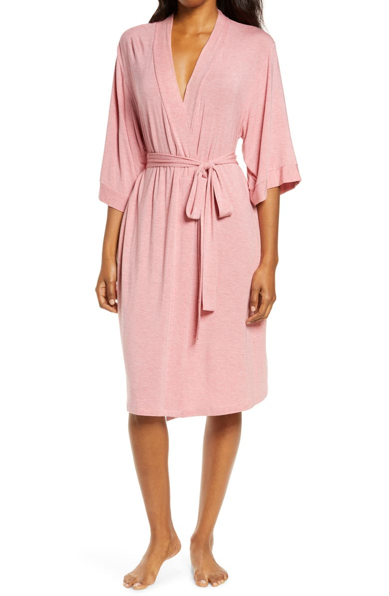 PAPINELLE Jersey Robe, Main, color, DUSTY PINK