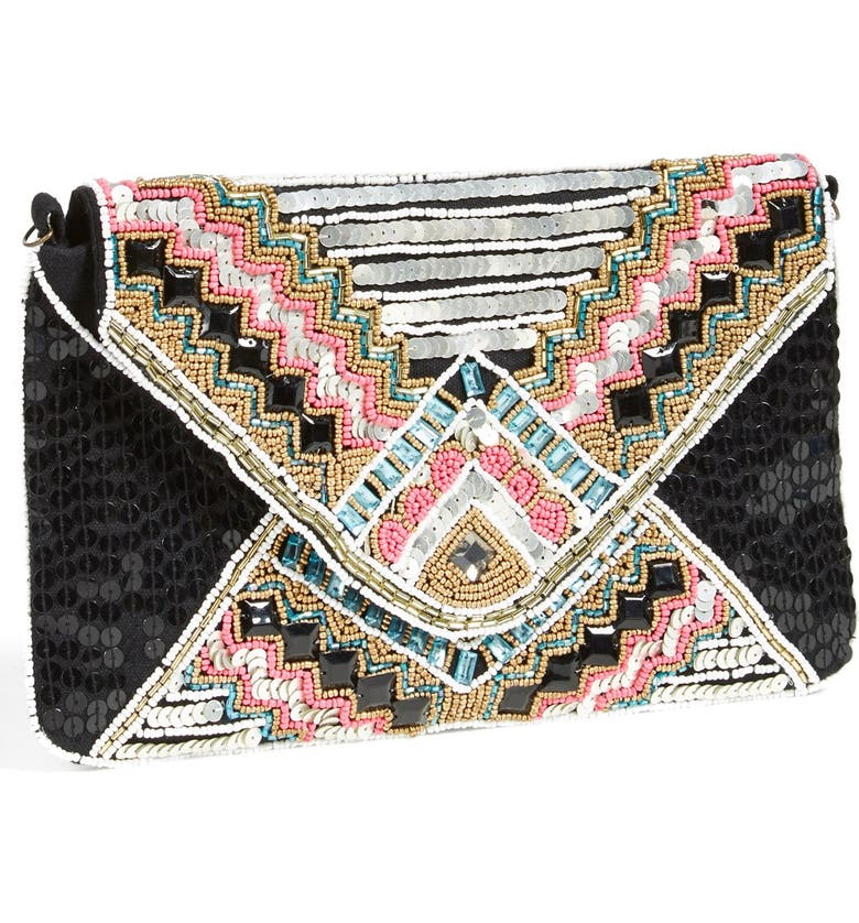 BERRY Beaded Envelope Clutch, Main, color, MULTI