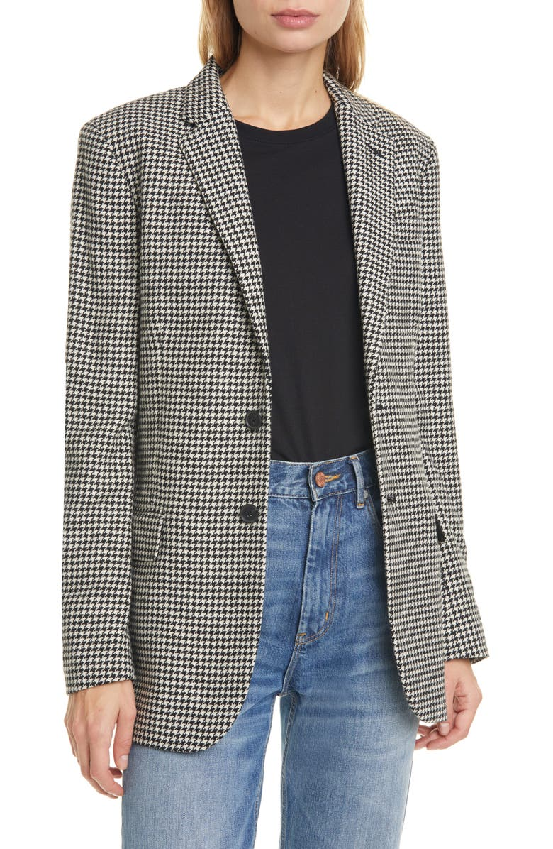 POLO RALPH LAUREN Houndstooth Wool Blend Blazer, Main, color, 001