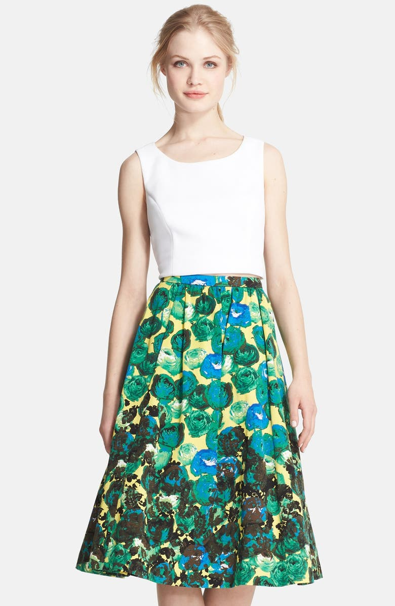 TRACY REESE Sleeveless Crop Top, Main, color, OPTIC WHITE