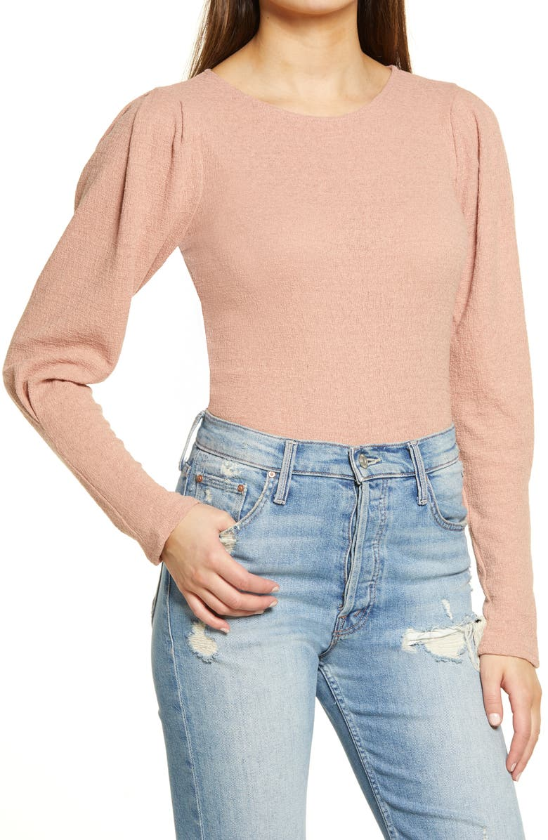 ALL IN FAVOR Textured Top, Main, color, DARK MAUVE